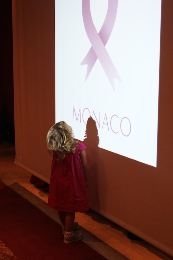 Young admirer of Pink Ribbon Monaco