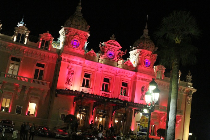 The Casino in Monte-Carlo turns pink for breast cancer awareness