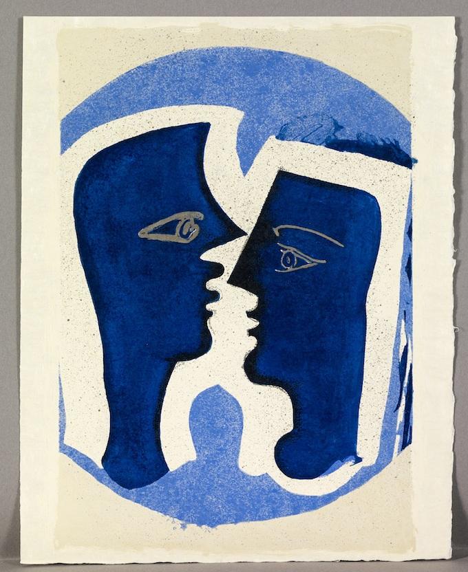 Georges Braque, Lettera amorosa, 1963, lithographie, 32.5 x 25 cm © Claude Germain © Adagp Paris 2013