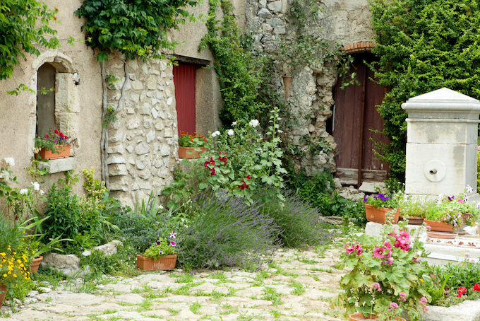 Rustic setting in the South of France