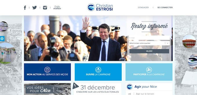 Christian Estrosi 2014 electoral website