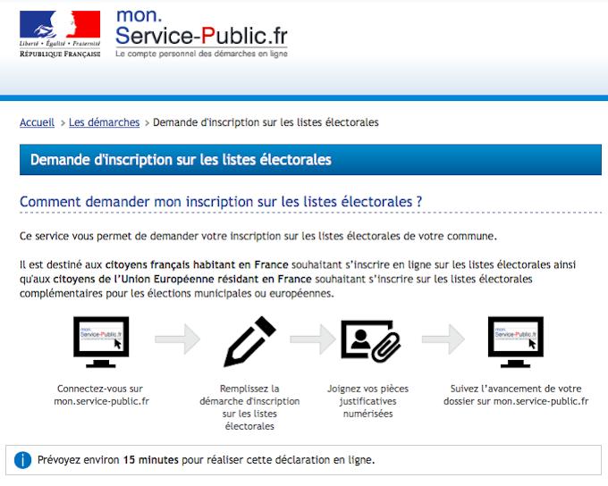 Mon Service Public French website
