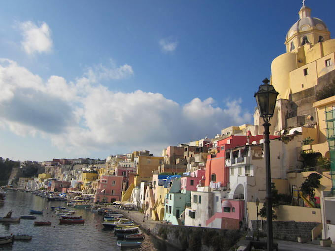 The beautiful island of Procida in the bay of Naples