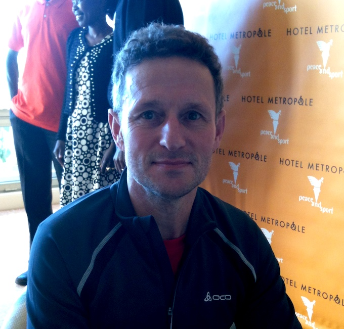 Ultra long distance runner William Sichel at Hotel Métropole in Monte-Carlo