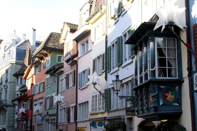 The old town of Zurich