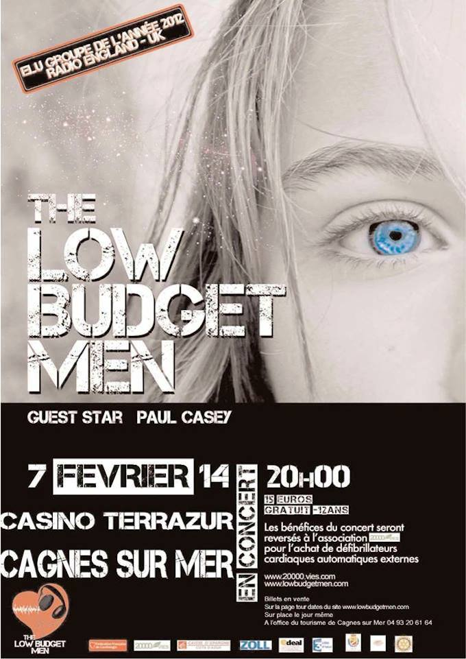 Low Budget Men play Cagnes-sur-Mer this February 2014