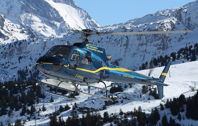 Heli Sécurité helicopter transfers in Courchevel