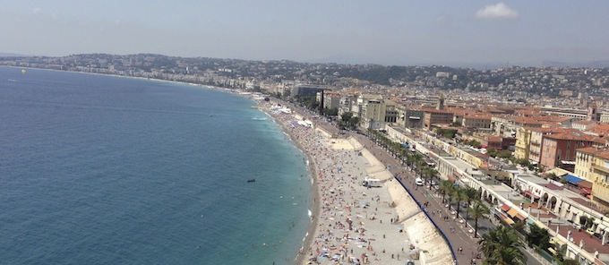Coastline Baie des Anges in Nice