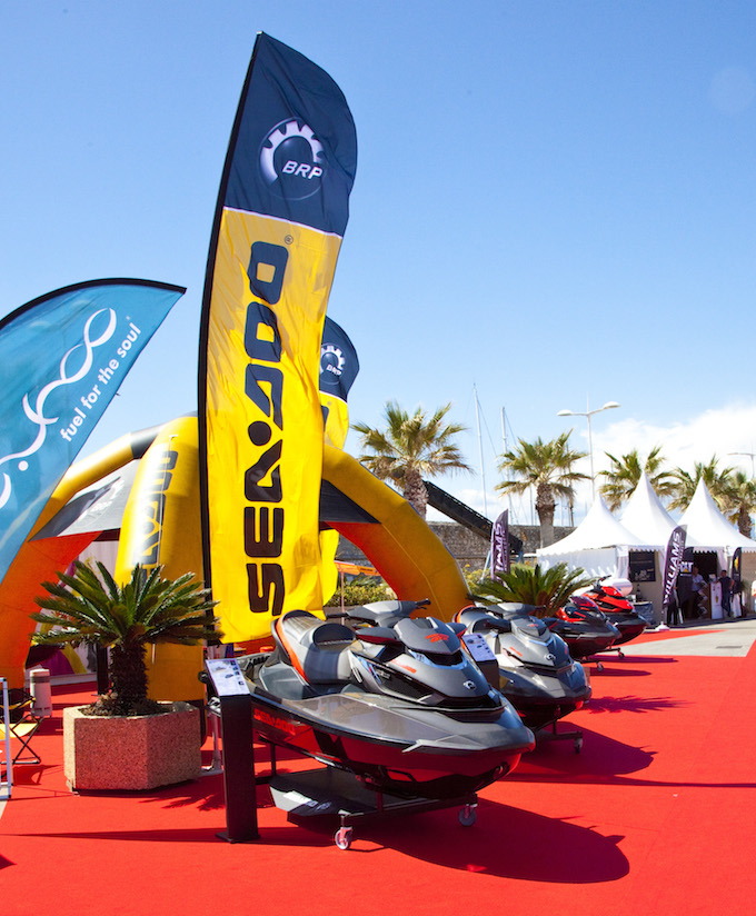 Skidoos at the 2014 Antibes Yacht Show