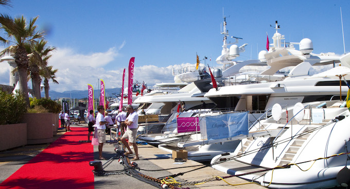 Quayside at the 2014 Antibes Yacht Show