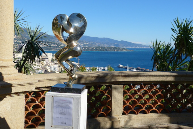 The Heart by Michel Anthony on display in Monaco