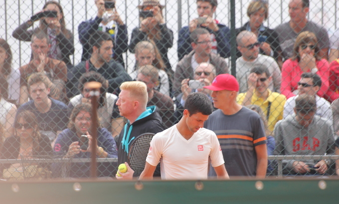 Djokovic and Becker Monte-Carlo Rolex Masters 2014