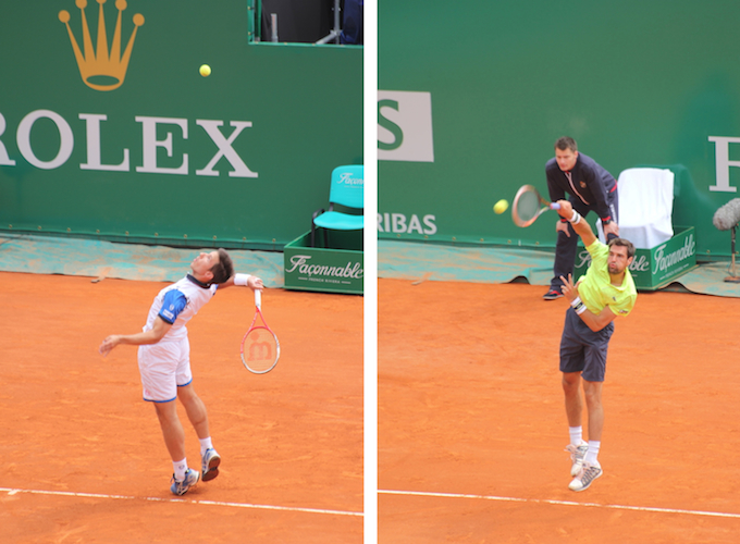 Action from centre court Monte-Carlo Rolex Masters 2014