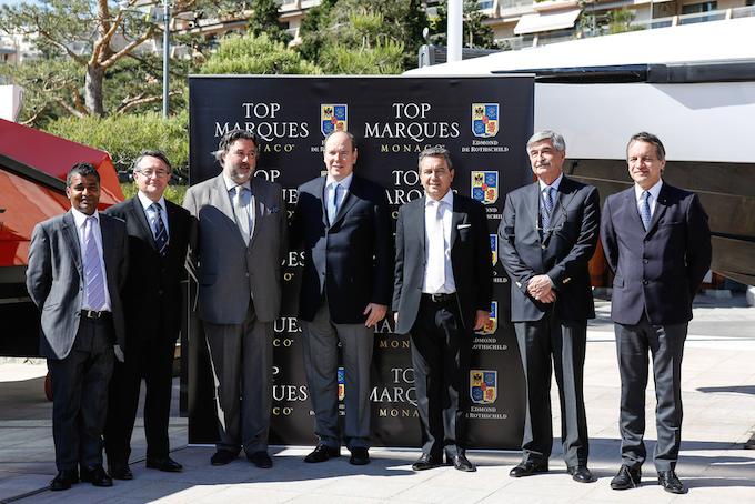 Prince Albert II at Top Marques Monaco 2014 at the Grimaldi Forum