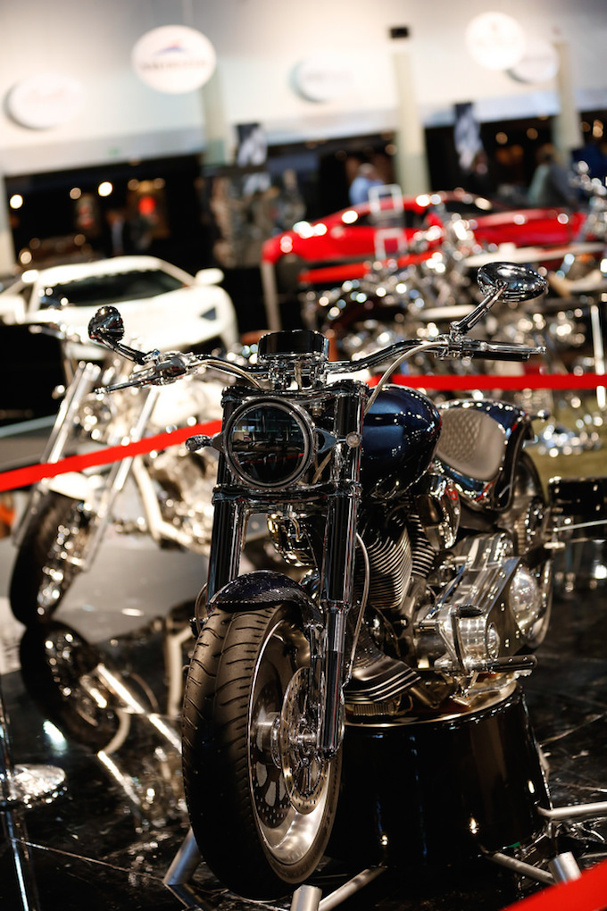 Motorbikes at Top Marques Monaco 2014 at the Grimaldi Forum
