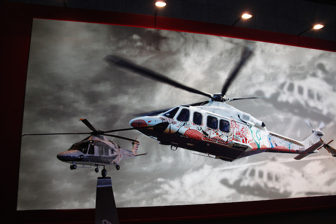 Helicopters at Top Marques Monaco 2014 at the Grimaldi Forum