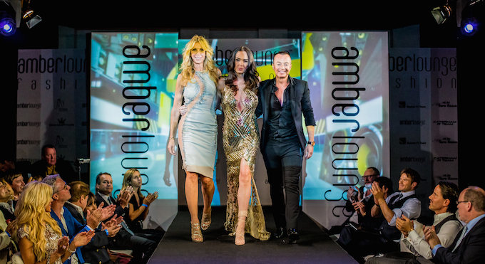 Fashion show finale at Amber Lounge Monaco