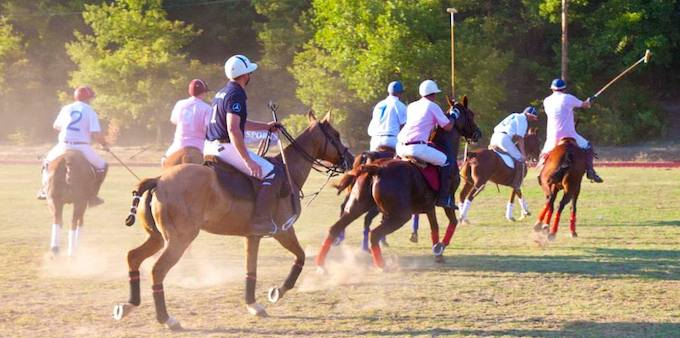 Action from a chukka of Polo in Callian