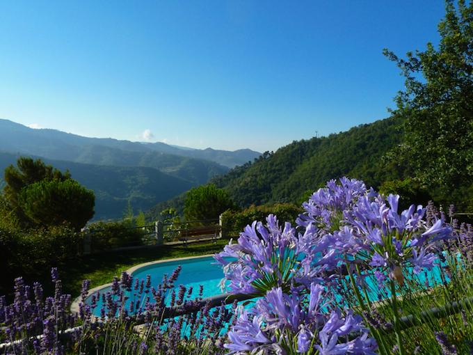 Swimming pool at Casa Villatalla near Dolceacqua
