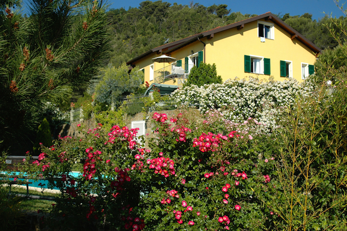 The gardens at Casa Villatalla near Dolceacqua