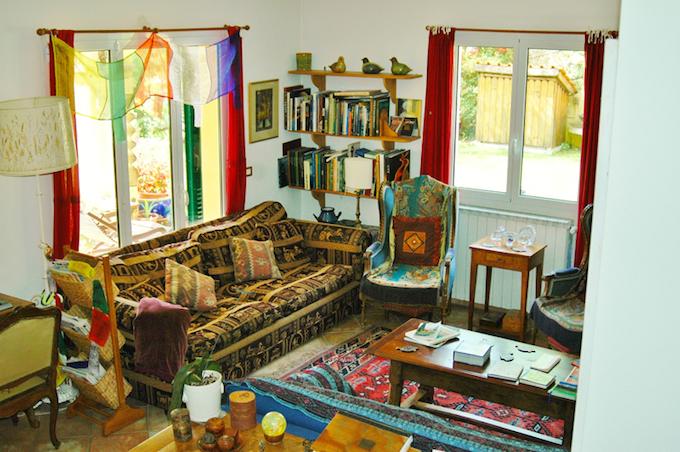 The interior of Casa Villatalla near Dolceacqua