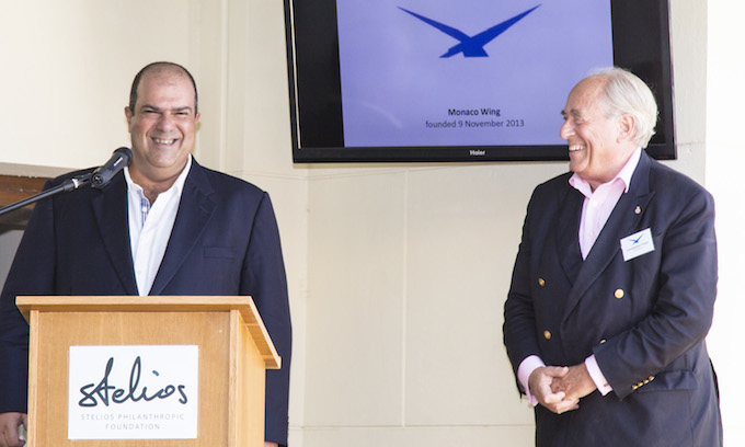 Stelios addresses the Monaco Air League meeting