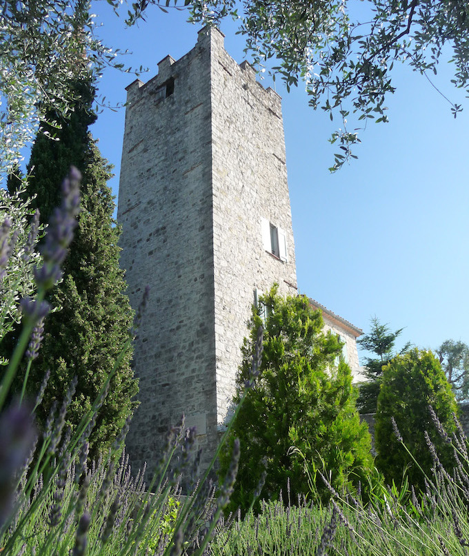 The tower at the Chateau in Tourette-Levens