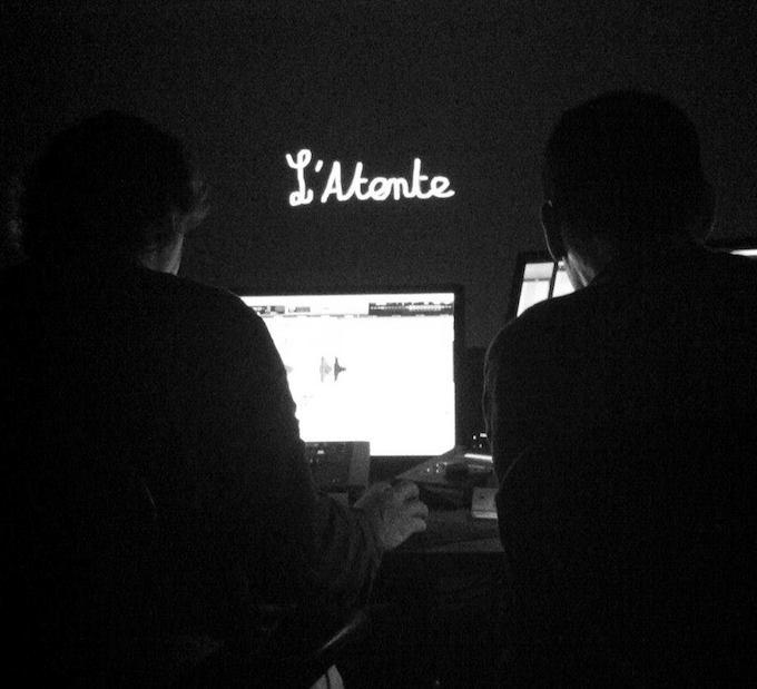 Editing suite for L'Atente film