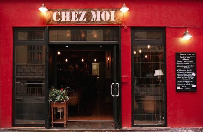 The facade of Chez Moi in Nice