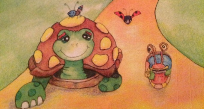 Illustration from Turtle and His True Friend book