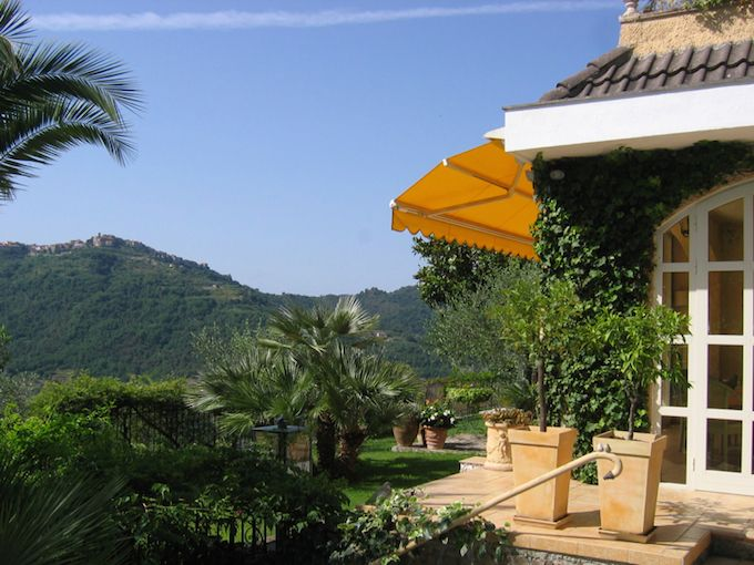 Terrace at villa in Apricale