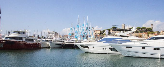 Boats at Cannes Yachting Festival 2014