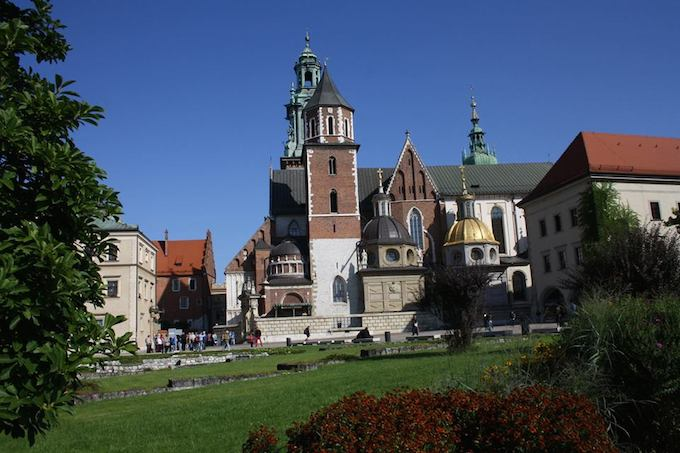 The beautiful Basilica in Krakow, Poland