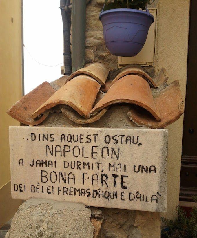 Napoleon Bonaparte sign in Antibes