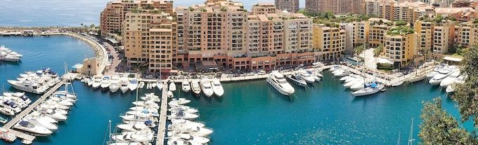 The harbour in Fontvieille in Monaco