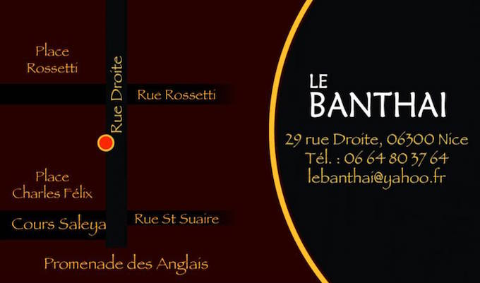 Le Banthai in Vieux Nice