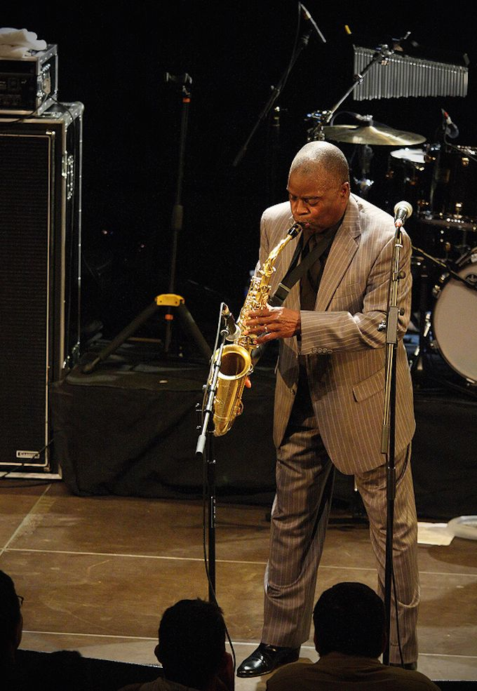 Maceo Parker perfroming live; photo © Sylvain Hardy