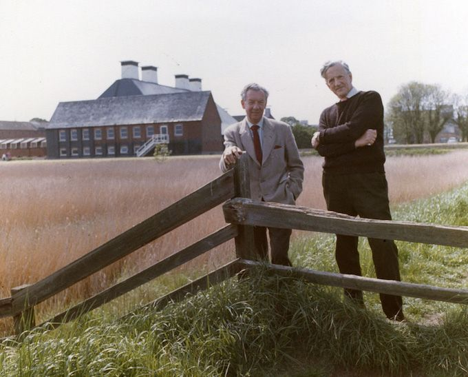 Benjamin Britten and Peter Pears -- photo by Hans Wild