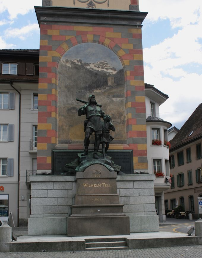 Statue of William Tell in Altdorf