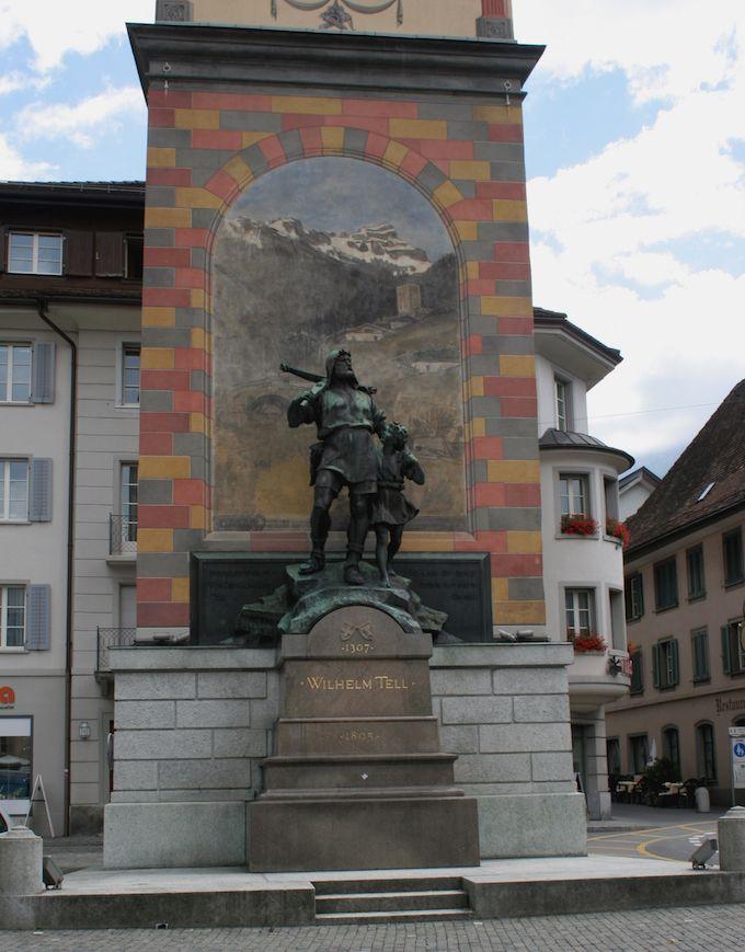 Statue of William Tell in Altdorf