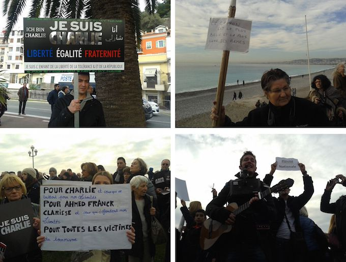Je Suis Charlie march in Nice