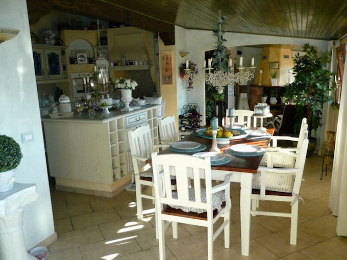 Interior of country villa in Vasia, Liguria - kitchen