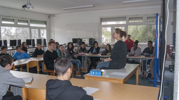 Classroon at Lycée Les Eucalyptus in Nice