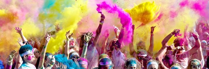 Colour Run 2015 in Nice, France