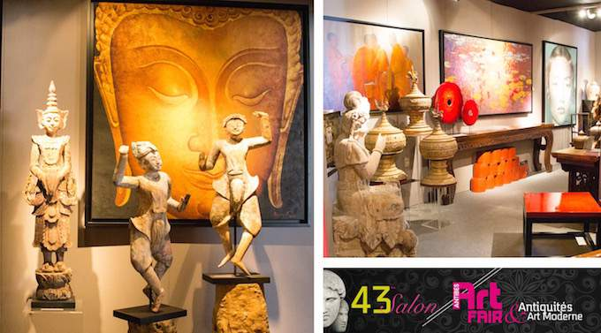 Some of the exhibits at the Antibes Art Fair 2015