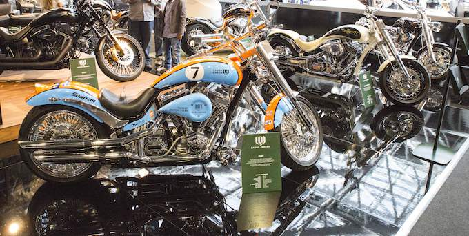 Motorbikes at Top Marques Monaco 2015 at the Grimaldi Forum