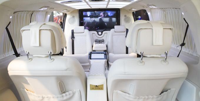 Interior of mini-bus at Top Marques Monaco 2015 at the Grimaldi Forum