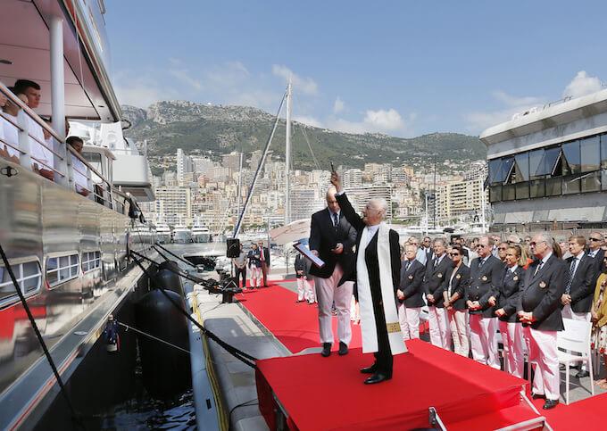 M/V Yersin blessing Monaco June 2015