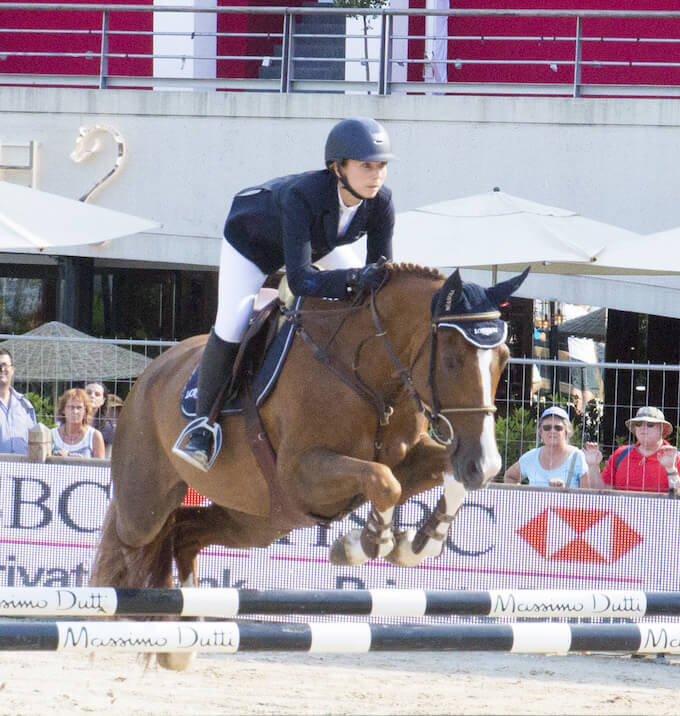 Showjumping in Port Hercule in Monaco