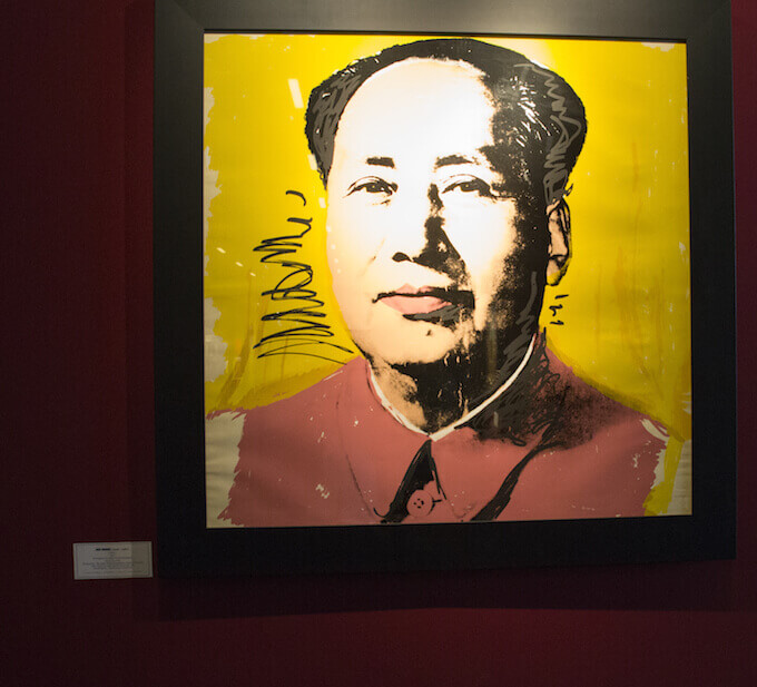 Warhol Mao Tse Tsung at Point Art Monaco art fair